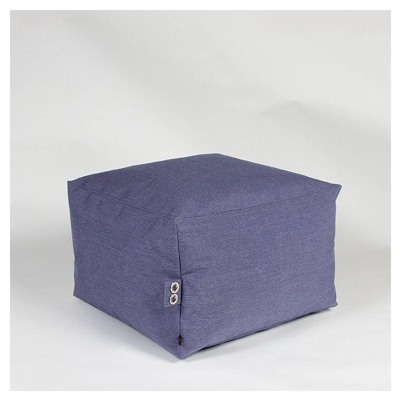 Pouf cube bleu nuit SQUARE Celmar