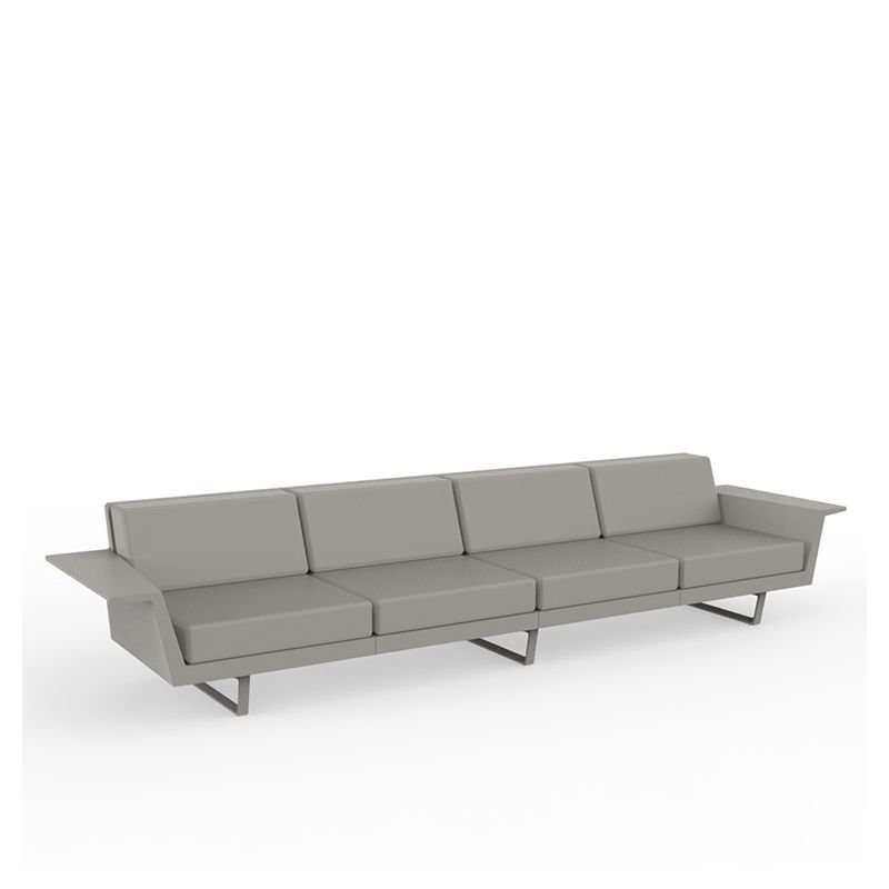 Delta canap ext rieur 4 pl vondom sofa droit design for Canape 4 places droit