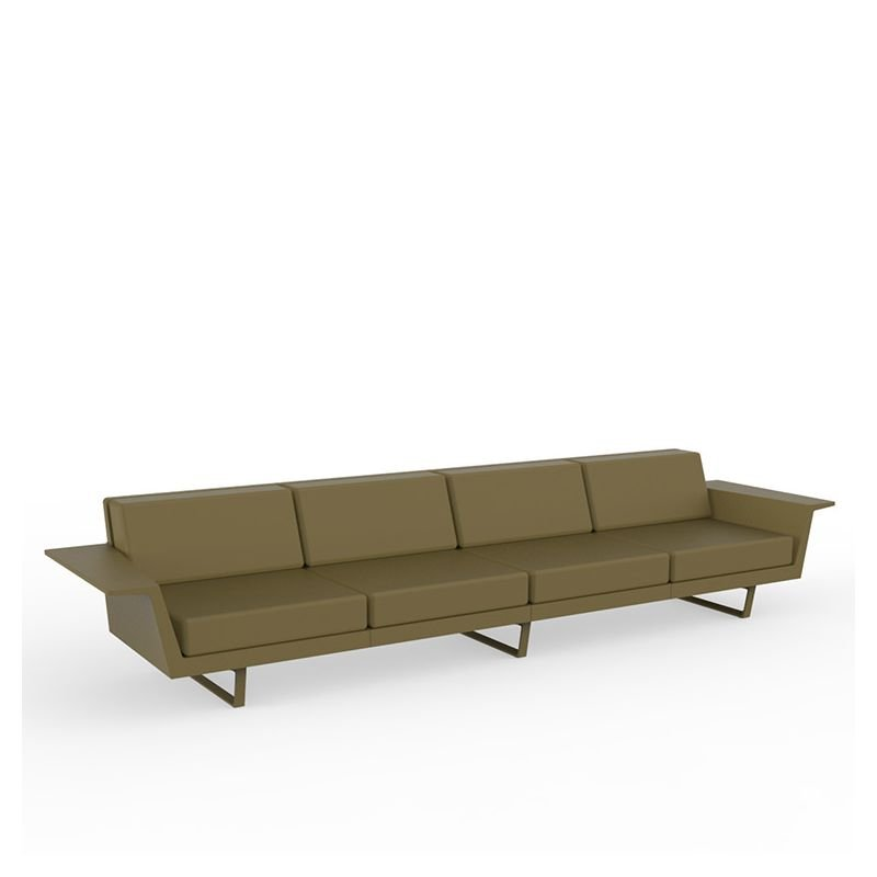 Flat canap droit 4 places canap outdoor vondom for Canape droit 4 places