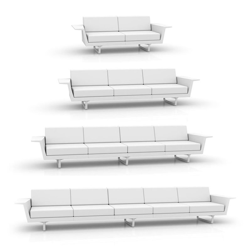 Flat canap droit 4 places canap outdoor vondom - Canape 5 places droit ...