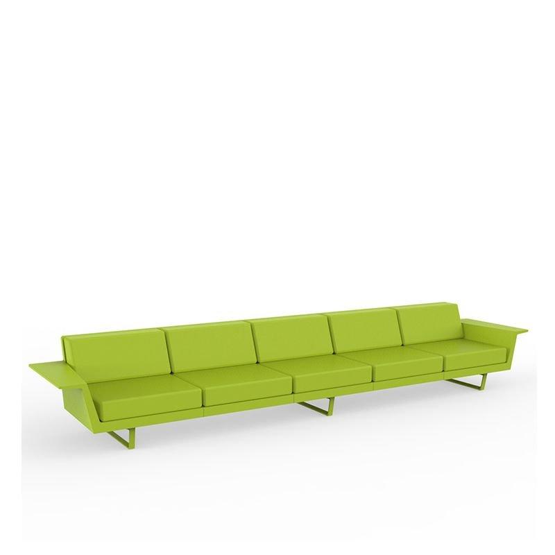 flat canap ext rieur 5 pl canap droit vondom. Black Bedroom Furniture Sets. Home Design Ideas