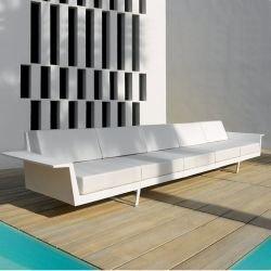 Canapé droit 5 places blanc FLAT Vondom