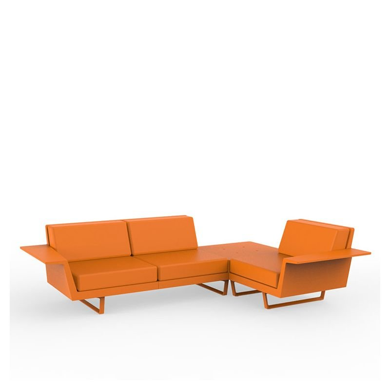 Flat canap outdoor d 39 angle 3 places vondom - Canape d angle orange ...