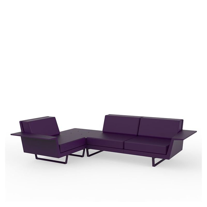 Flat canap outdoor d 39 angle 3 places vondom - Canape d angle violet ...