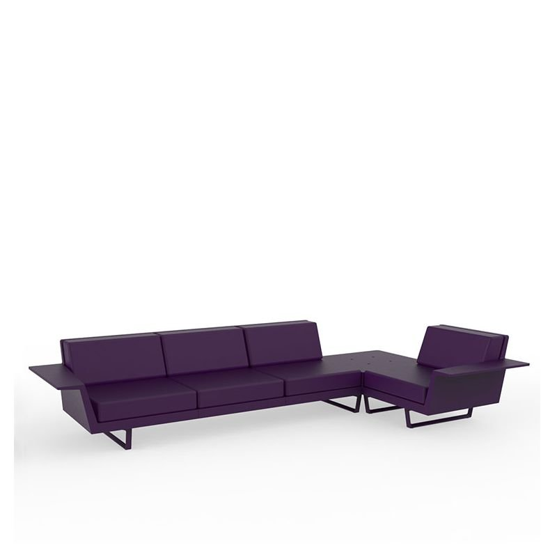 Flat canap outdoor d 39 angle 4 places vondom - Canape d angle violet ...