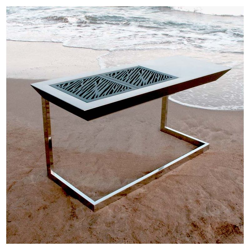 Barbecue Foyer Double, Grilles En Fonte STROMBOLI FORCE Fesfoc