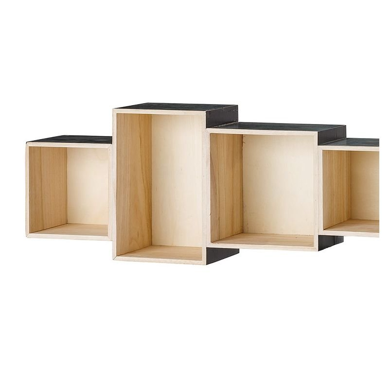 bookcase tag re murale en bois bloomingville. Black Bedroom Furniture Sets. Home Design Ideas