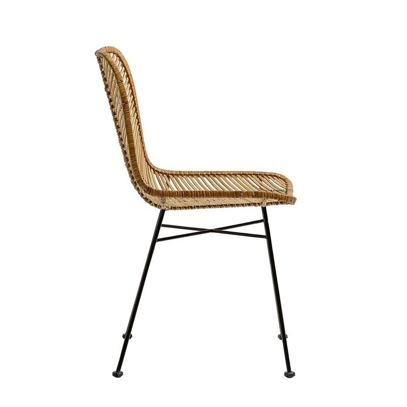 Lena chaise rotin tress design bloomingville for Chaise rotin tresse