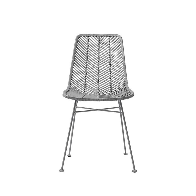 Lena Chaise Rotin Tresse Design Bloomingville