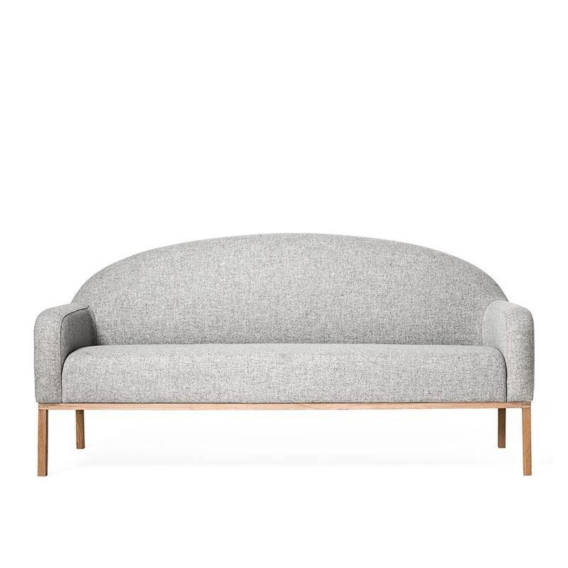 Canapé 2 places DIVINE tissu gris clair Bloomingville