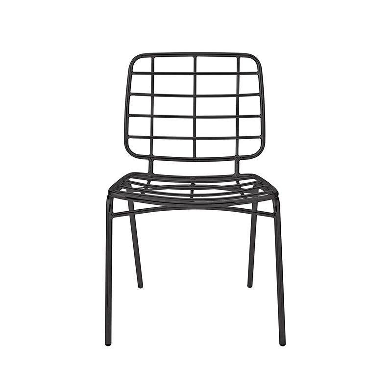 chaise mtal noir mesh bloomingville - Chaise Metal