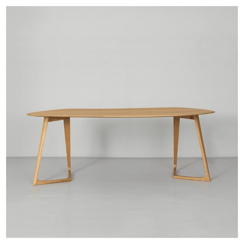 Twist office bureau table design en bois zeitraum - Bureau contemporain bois massif ...
