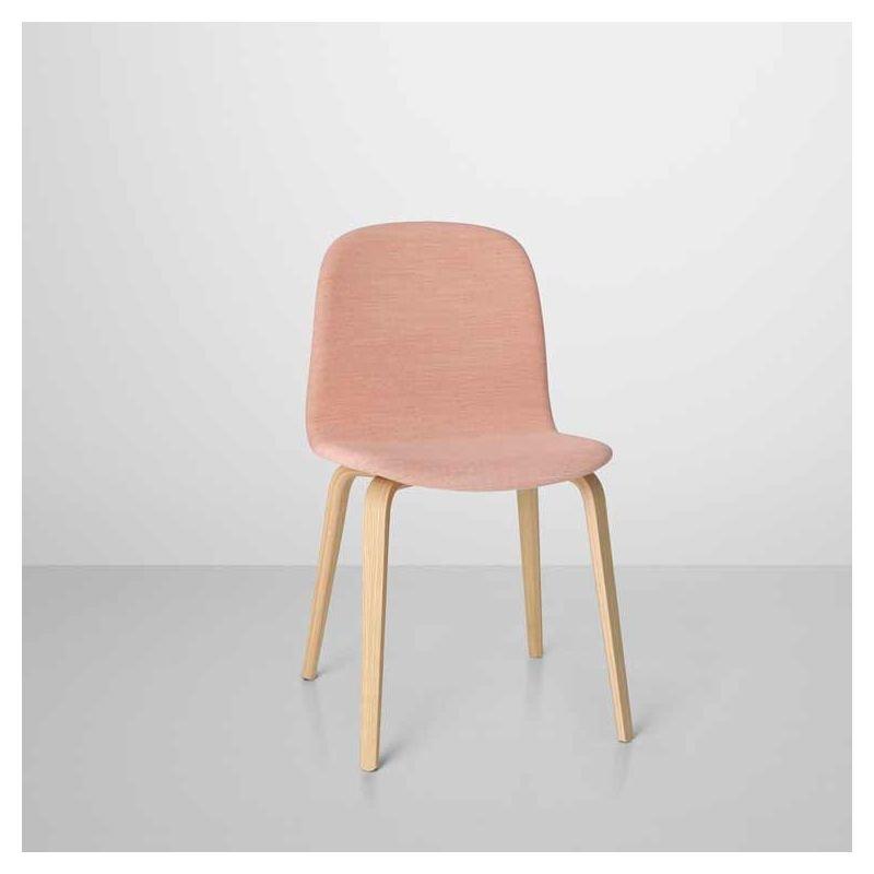 Souvent Visu, chaise design rembourrée bois & tissu Muuto IS26