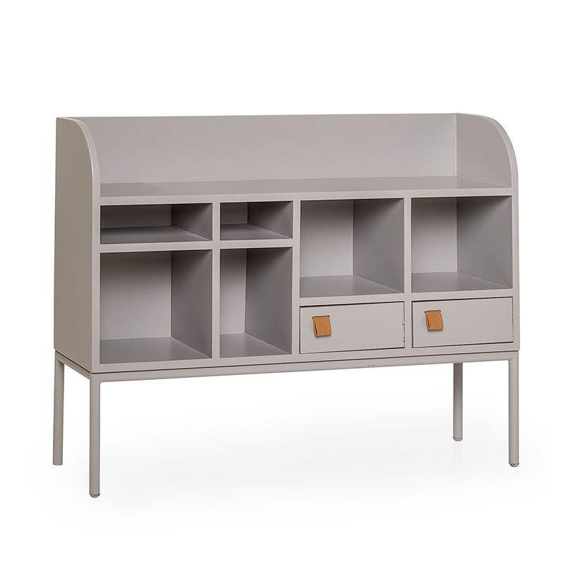 cute drawer rangement bas gris bloomingville. Black Bedroom Furniture Sets. Home Design Ideas