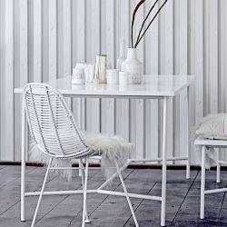Grande table rectangulaire blanche WONDER Bloomingville