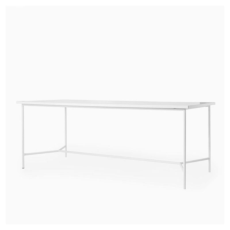 wonder table rectangulaire blanche bloomingville. Black Bedroom Furniture Sets. Home Design Ideas