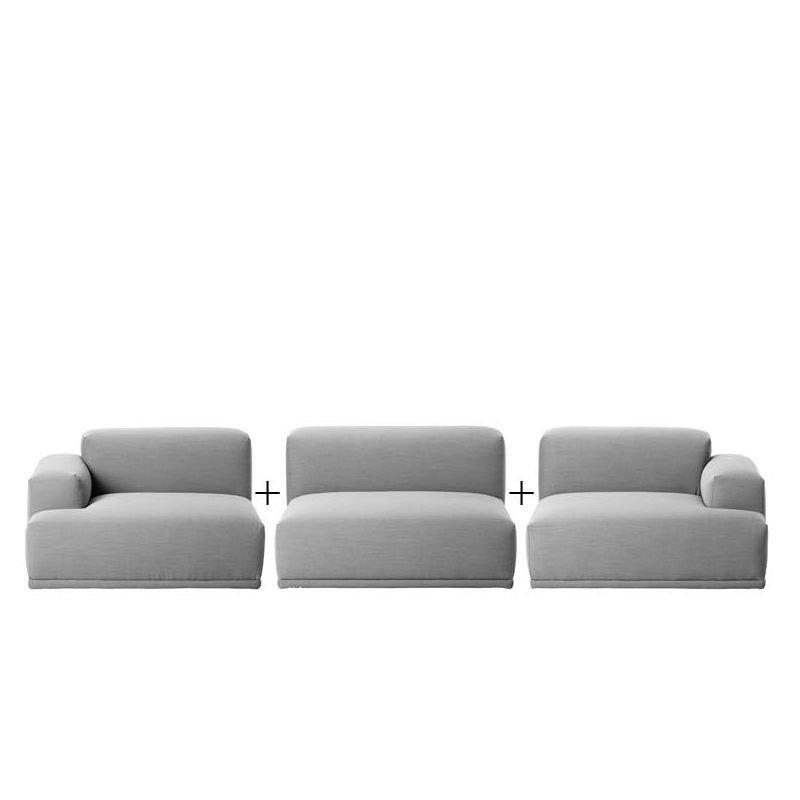 connect canap 3 places en tissu muuto. Black Bedroom Furniture Sets. Home Design Ideas