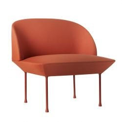 Fauteuil rembourré OSLO tissu orange Steelcut 550 Muuto