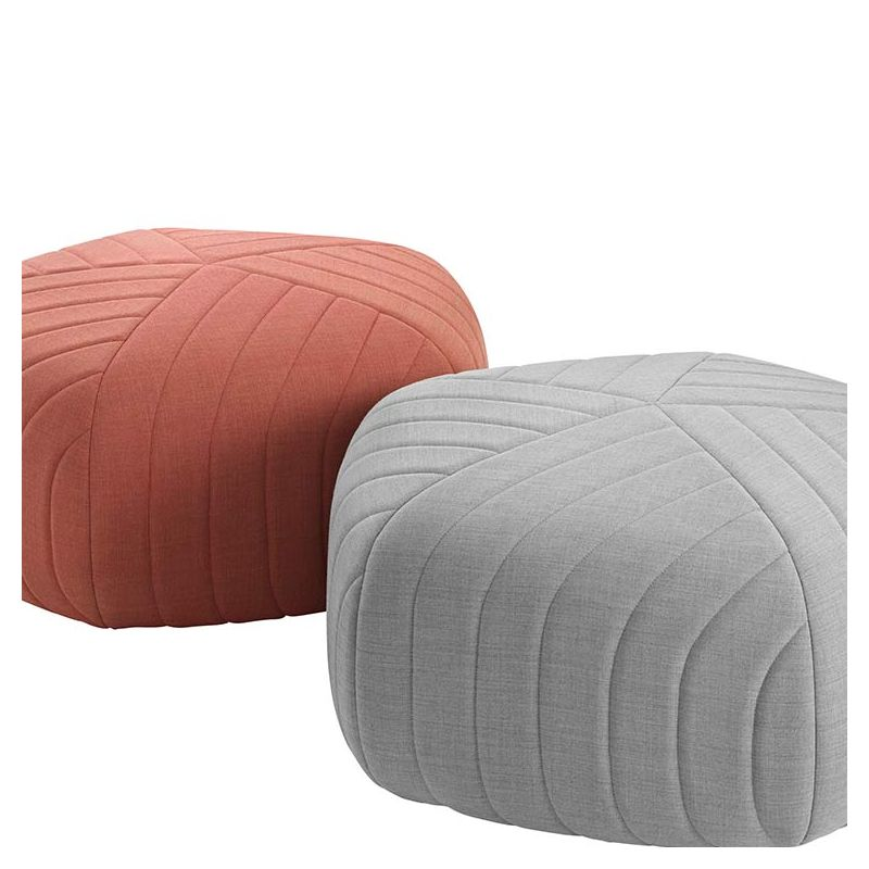 Five pouf contemporain tissu et mousse muuto for Pouf design contemporain