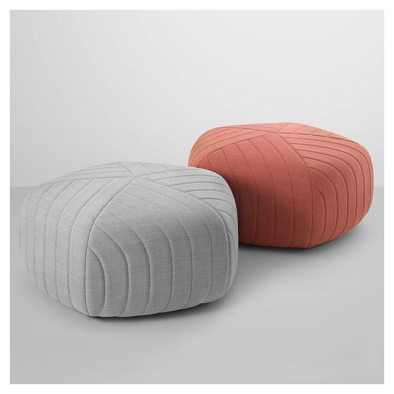 Five pouf contemporain tissu et mousse muuto for Pouf contemporain