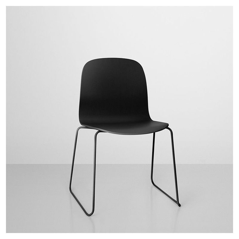 visu chaise empilable pieds luge bois muuto. Black Bedroom Furniture Sets. Home Design Ideas