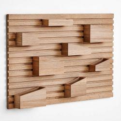 Rangement mural design en bois INPUT Woud