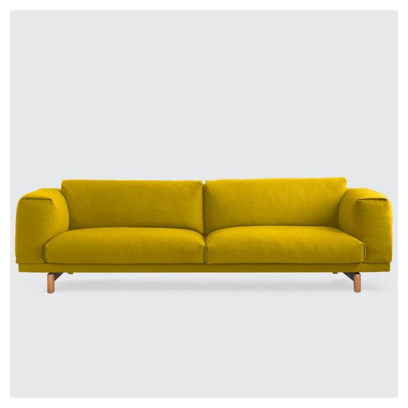 Rest canap 3 places canap tissu muuto for Canape moutarde