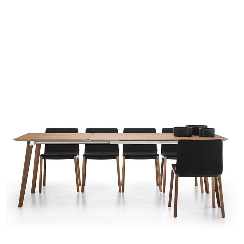 Transalpina table extensible punt bois design culdesac for Table extensible interieur