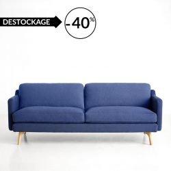 Canapé 3 places bleu DON Woud