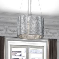 Suspension eco-design coloris gris @LUCE Medium Staygreen