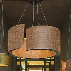 Suspension éco-design coloris bronze @LUCE XXL Staygreen