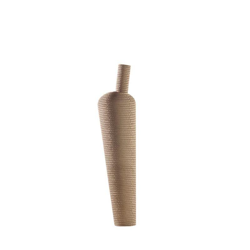 Vase déco géant éco-design AMPHORA Staygreen, hauteur 108 cm, coloris kraft naturel