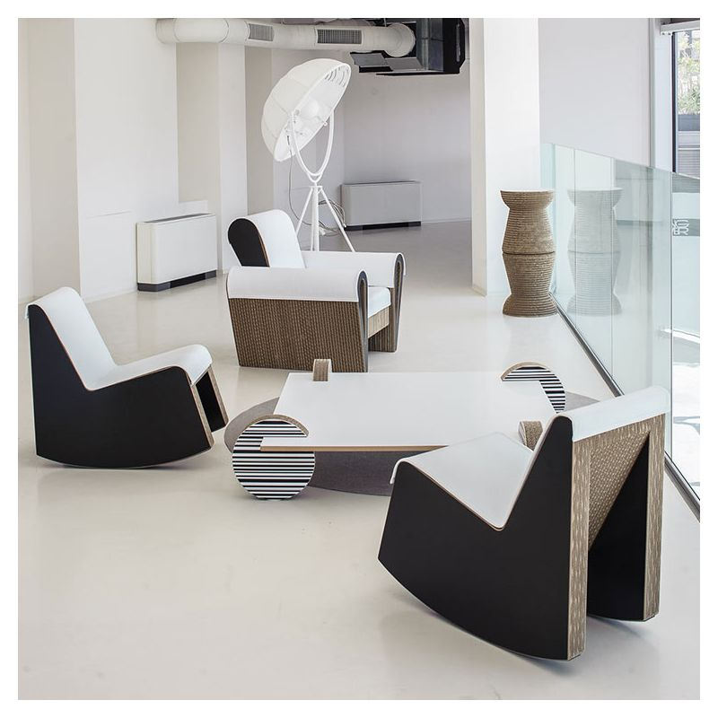swing fauteuil rocking chair contemporain staygreen. Black Bedroom Furniture Sets. Home Design Ideas