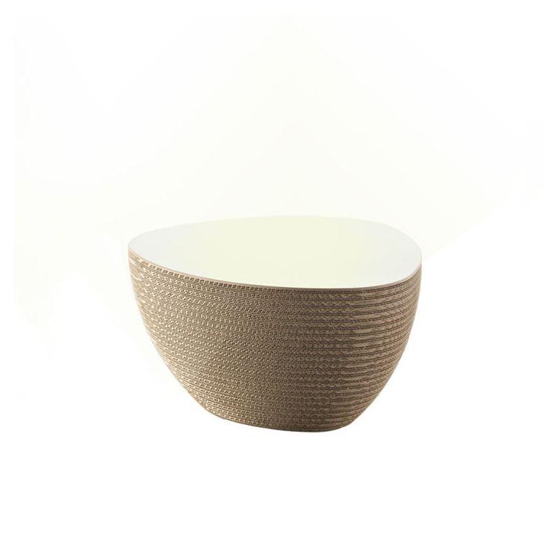 Table basse lumineuse STONE @LUCE Staygreen, 63 x 72 cm, coloris kraft naturel