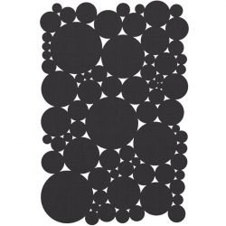 Tapis rectangulaire in & out BUBBLE SUITE Dickson-Constant, coloris Graphite foncé U 520
