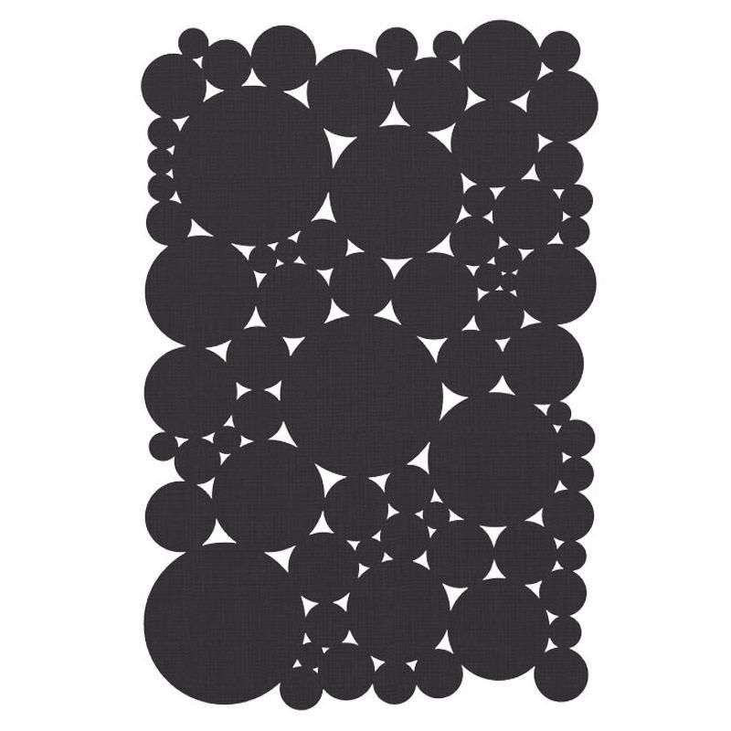 Tapis rectangulaire in & out BUBBLE SUITE Dickson-Constant, coloris Graphite foncé U 520