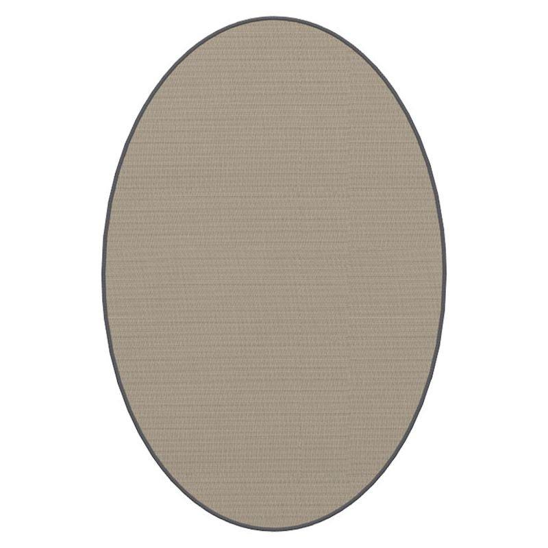 Tapis ovale ELLIPSE à galon Dickson, coloris Sable U 522, galon flanelle 5137