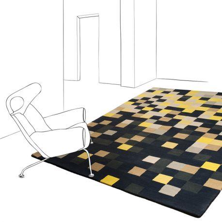 tapis cr ateur squares toulemonde bochart. Black Bedroom Furniture Sets. Home Design Ideas