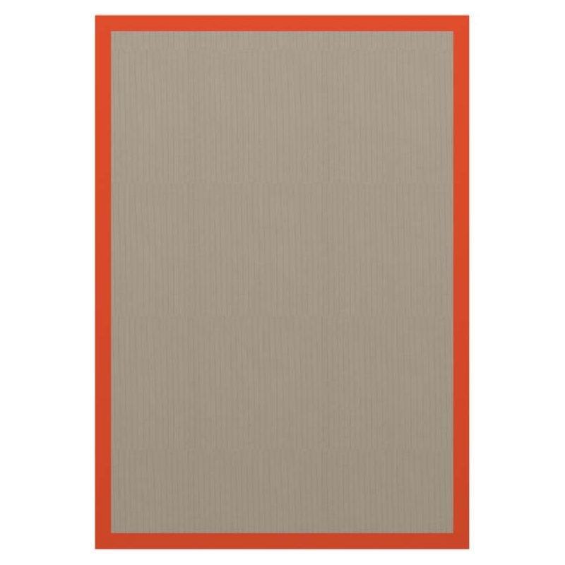 Tapis in & out gansé RECTANGLE L Dickson, 200 x140, coloris Sand U 522, ganse Carotte 10109