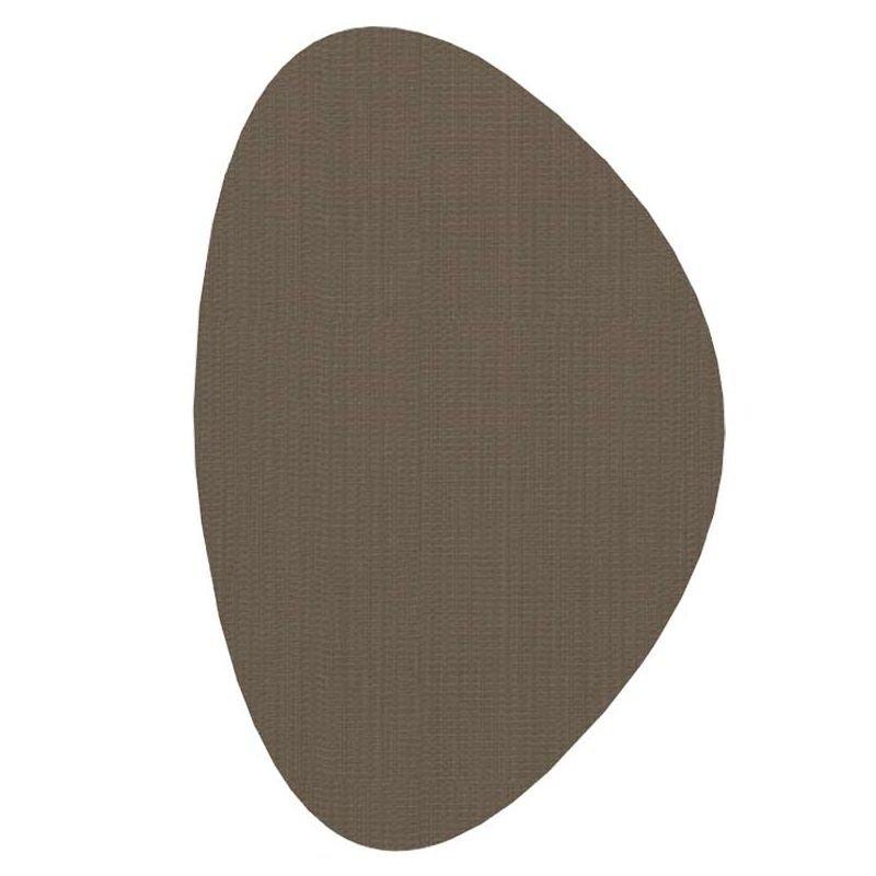 Tapis extérieur intérieur STONE Dickson, vinyle tissé coloris  Cacao U 519