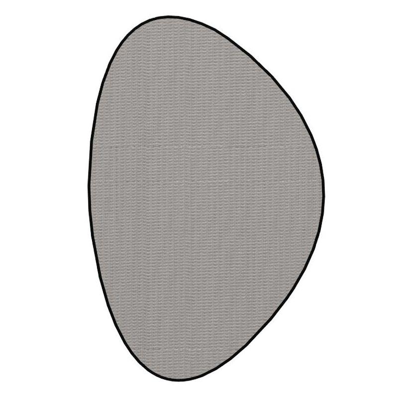 Tapis in & out STONE à galon Dickson, coloris Ecume U 521, galon Noir 5012