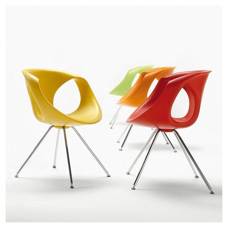 Chaise Pieds Mtal UP CHAIR Tonon Coloris Jaune Rouge Orange Et Vert