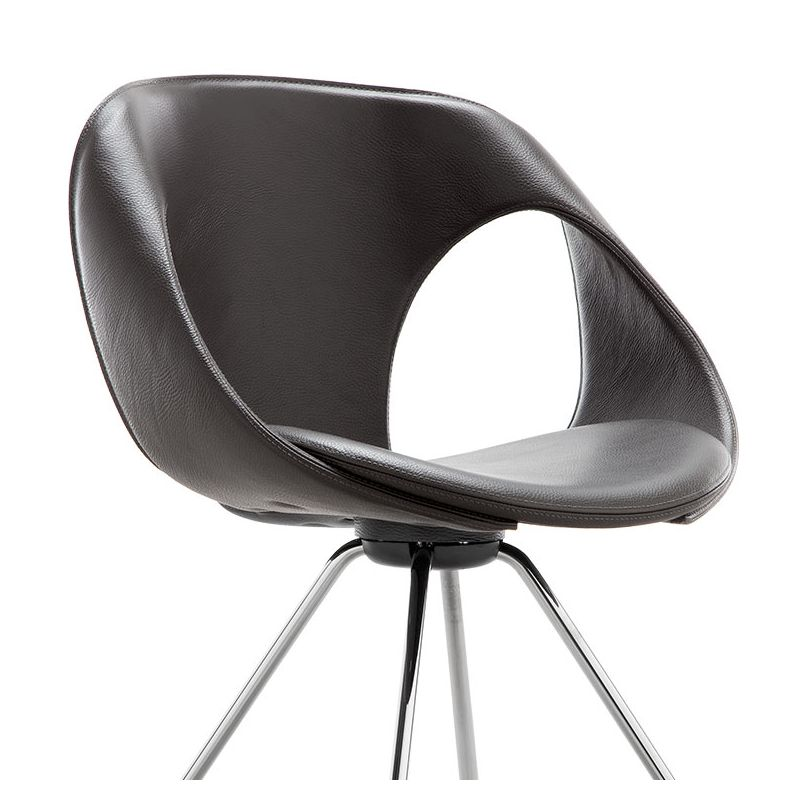 up chair 907 21 chaise design cuir m tal tonon. Black Bedroom Furniture Sets. Home Design Ideas