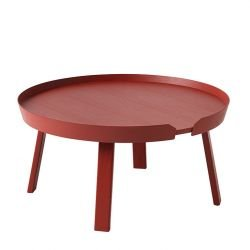 Table basse rouge foncé AROUND LARGE Muuto