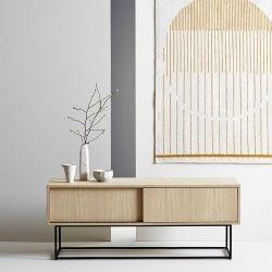 Rangement bas & meuble TV VIRKA Woud en chêne blanchi