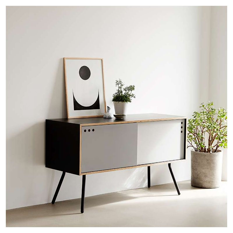 geyma buffet bas contemporain enfilade en bois woud. Black Bedroom Furniture Sets. Home Design Ideas