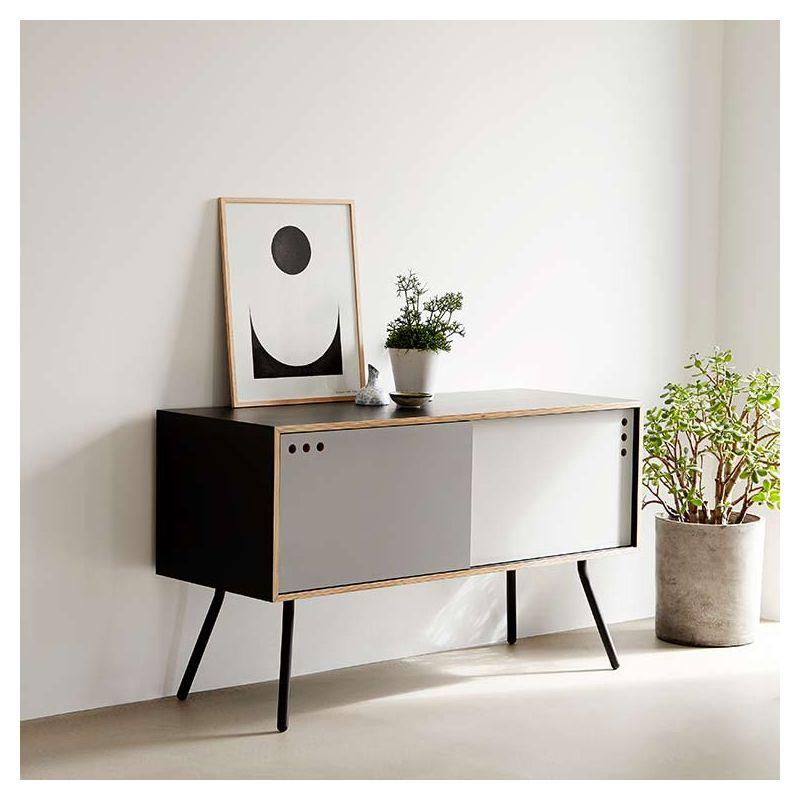 geyma buffet bas contemporain enfilade en bois woud. Black Bedroom Furniture Sets. Home Design Ideas