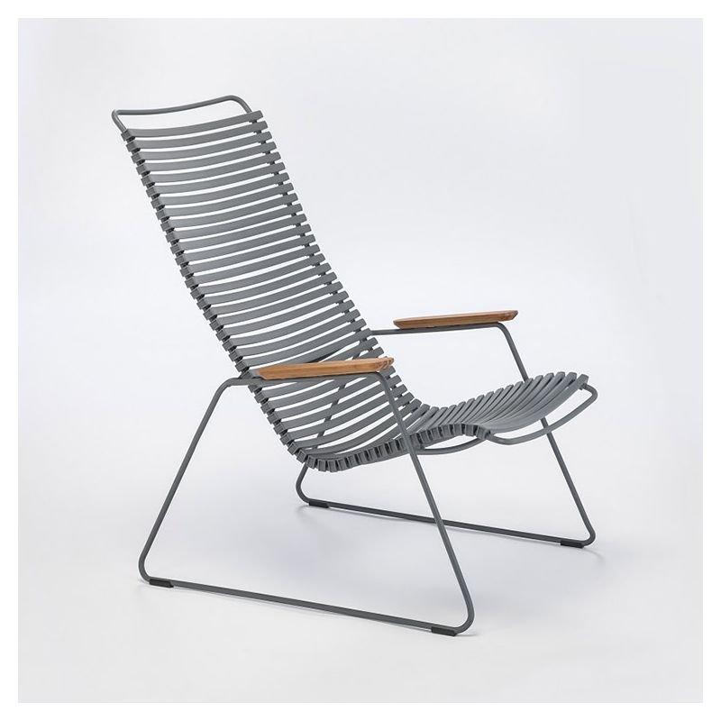 Chaise longue coloris gris foncé CLICK Houe