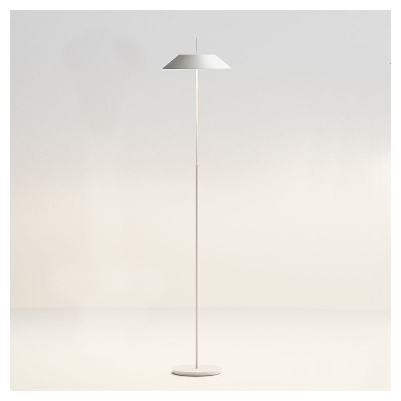 Lampe de sol LED blanc mat MAYFAIR Vibia