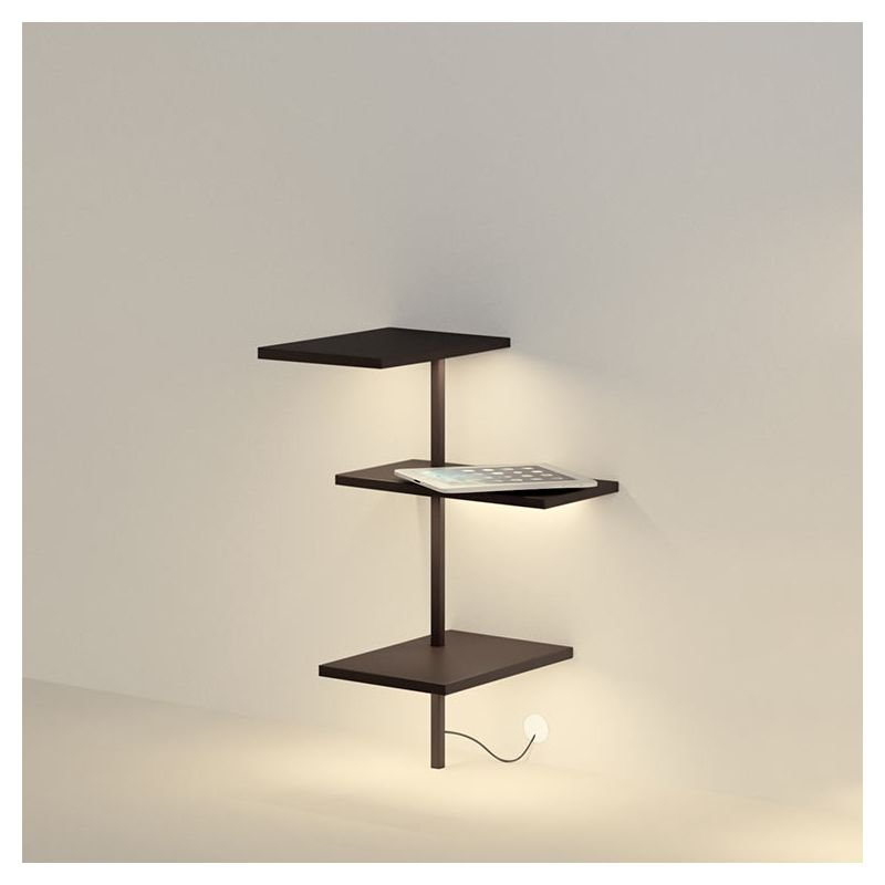 Suite tag re murale vibia 3 tablettes lampe led for Etagere cuisine lumineuse